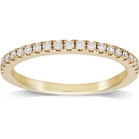 9ct Yellow Gold 0.25cttw Diamond Stacker Ring - Ring Size T