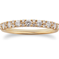 9ct Yellow Gold 0.50ct Cluster Eternity Rings - Ring Size O