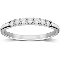 9ct White Gold 0.25cttw Diamond Stacker Style Eternity Ring - Ring Size P