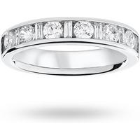 shop for Platinum 1.00ct Dot Dash Half Eternity Ring - Ring Size E at Shopo
