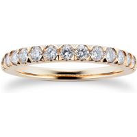9ct Yellow Gold 0.50cttw Diamond Claw Set Eternity Ring - Ring Size N