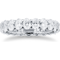 shop for Platinum 4.51ct Oval Cut Diamond Full Eternity Ring at Shopo