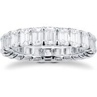 shop for Platinum 5.94ct Emerald Cut Diamond Full Eternity Ring at Shopo