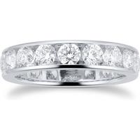 shop for Platinum 2.88ct Diamond Set Eternity Ring at Shopo
