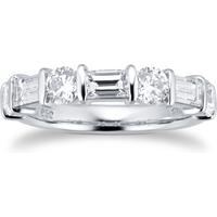 shop for Platinum 1.77ct 7 Stone Diamond Eternity Ring at Shopo