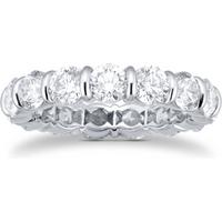 shop for Platinum 4.95ct Diamond Full Eternity Ring at Shopo