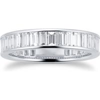 shop for Platinum 2.80ct Baguette Cut Diamond Full Eternity Ring at Shopo