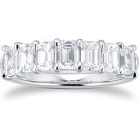 shop for Platinum 2.31ct Emerald Cut Diamond Eternity Ring at Shopo