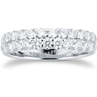 shop for 18ct White Gold 1.30ct 2 Row Eternity Ring at Shopo