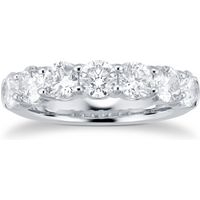 shop for 18ct White Gold 2.38ct 7 Stone Diamond Eternity Ring at Shopo