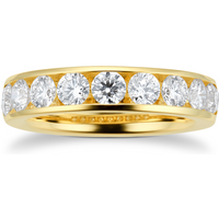 18ct Yellow Gold 1.48ct Diamond Set Eternity Ring