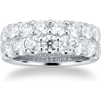 shop for 18ct White Gold 3.60ct 2 Row Diamond Eternity Ring at Shopo