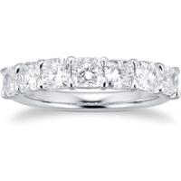 shop for Platinum 2.31ct Cushion Cut Diamond Eternity Ring at Shopo