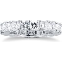 shop for Platinum 4.75ct Cushion Cut Diamond Full Eternity Ring at Shopo