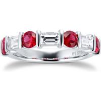 shop for Platinum Ruby & Diamond Eternity Ring at Shopo
