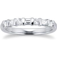 shop for Platinum 0.54ct 7 Stone Diamond Eternity Ring at Shopo