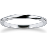 9ct White Gold 2mm Twist Wedding Ring - Ring Size M