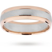 9ct White Gold and Rose Gold two tone wedding Ring