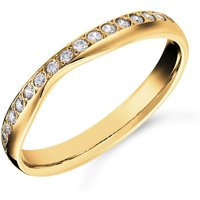 shop for Mappin & Webb 18ct Yellow Gold 0.20cttw Diamond Shaped Wedding Ring at Shopo