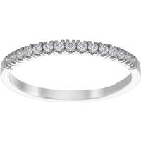 9ct White Gold 0.12cttw Diamond Claw Set Wedding Ring - Ring Size P