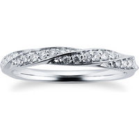 9ct White Gold 0.19ct Twist Style Diamond Wedding Ring - Ring Size L
