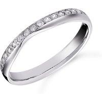 shop for Platinum 0.20cttw Diamond Shaped Wedding Ring at Shopo