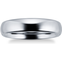shop for 5mm plain band ring in titanium - Ring Size R at Shopo