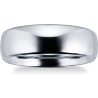 shop for 7mm gents plain band ring in titanium - Ring Size P at Shopo