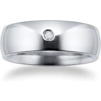 shop for Titanium 7mm Diamond Set Wedding Ring - Ring Size R.5 at Shopo