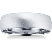 shop for Platinum Mens Matte Fancy Wedding Ring - Ring Size Q at Shopo