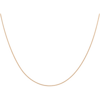 """9ct Rose Gold 1mm 18"""" Curb Chain"""