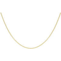 """9ct Yellow Gold 1.6mm 16"""" Trace Chain"""