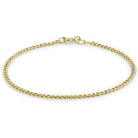 9ct Yellow Gold 2mm Curb Chain Bracelet