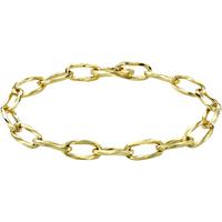9ct Yellow Gold Diamond Cut Belcher Chain Bracelet