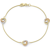 9ct Tricolour Gold Knot Bracelet