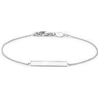 9ct White Gold Adjustable Bar Bracelet