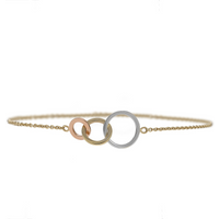 9ct Tricolour Gold Linked Bracelet