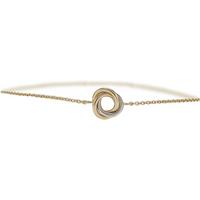 9ct Bicolour Gold Classic Knot Bracelet