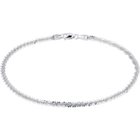 shop for 9ct White Gold Chain Link Bracelet at Shopo