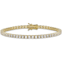 9ct Yellow Gold 3mm Cubic Zirconia Tennis Bracelet