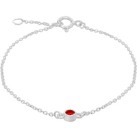 shop for Silver January Red Cubic Zirconia Bracelet at Shopo