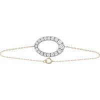shop for 9ct Bicolour Gold 0.40cttw Oval Claw Set Bracelet at Shopo
