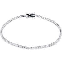 shop for 18ct White Gold 1.00ct Diamond Bracelet at Shopo