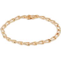 shop for Harmony 18ct Yellow Gold Diamond 0.98cttw Diamond Bracelet at Shopo