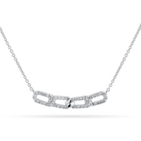 shop for Harmony 18ct White Gold 0.20cttw Diamond Necklace at Shopo