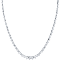 18ct White Gold 8.08ct Classic Diamond Necklace