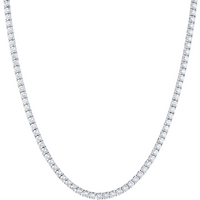 18ct White Gold 8.30ct Diamond Line Necklace