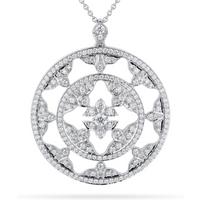 Empress 18ct White Gold 1.20cttw Diamond Pendant