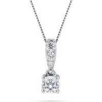 shop for 9ct White Gold Diamond Set 0.30cttw Pendant at Shopo