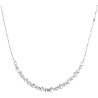 shop for Renee 18ct White Gold 1.31cttw Diamond Large Line Necklace at Shopo